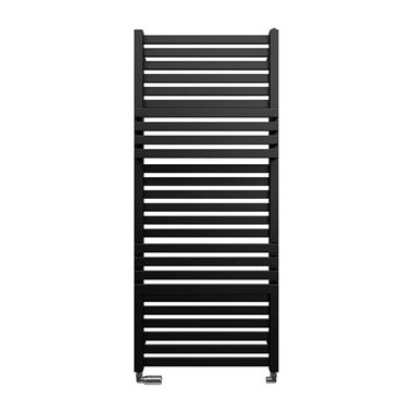 Crosswater Seattle Metallic Black Matte Heated Towel Rail - 1185 x 500mm